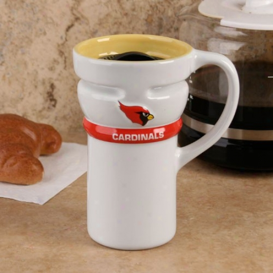 Arizona Cardinals White Closeout 15oz. Ceramic Travel Mug