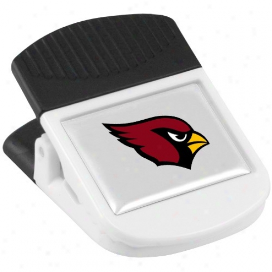 Arizona Cardinals White Magnetic Chip Clip