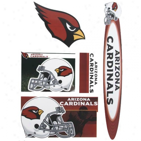 Arizona Cardinals Window Clings Sheet