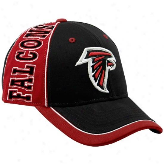 Atlanta Falcon Cap : Reebok Atlanta Falcon Black Adjustable Cap