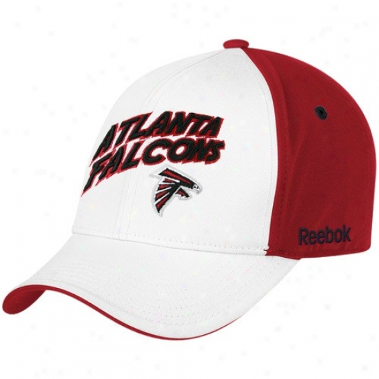 Atlanta Falcon Cap : Reebok Atlanta Falcon Youth White Structured Adjustable Cap