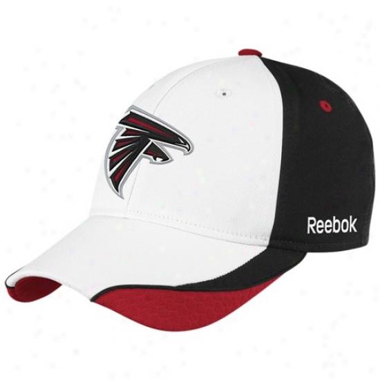 Atlanta Falcon Hat : Reebok Atlanta Falcon Youth White Sideline Foex Fit Hat