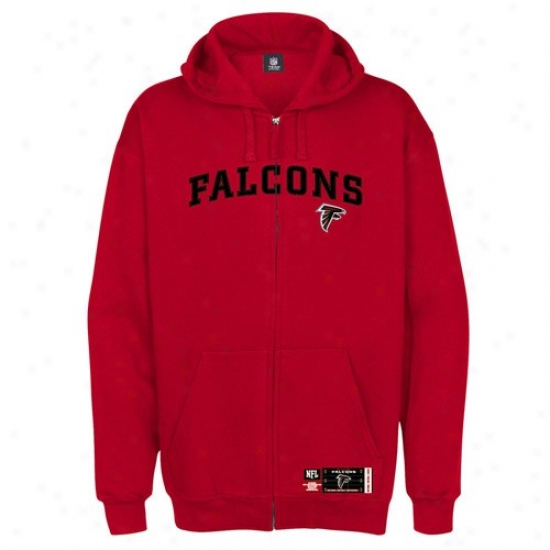 Atlanta Falcon Hoodys : Atlanta Falcon Red Classic Full Zip Hoodys