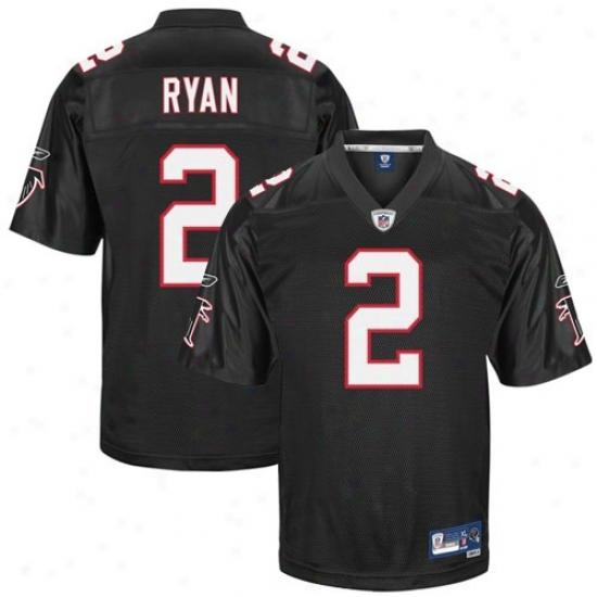 Atlanta Falcon Jerseys : Reebok Nfl Equipment Atlanta Falcon #2 Matt Ryan Black Premier Tackle Twill Football Jerseys