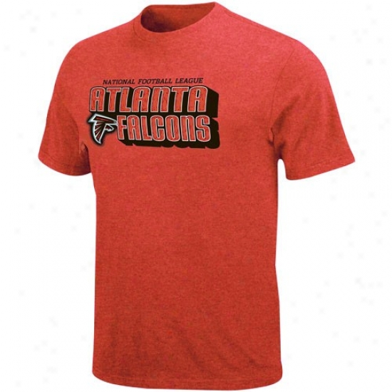 Atlanta Falcon Shirtss : AtlantaF alcon Red Defemsive Front Heathered Shirts