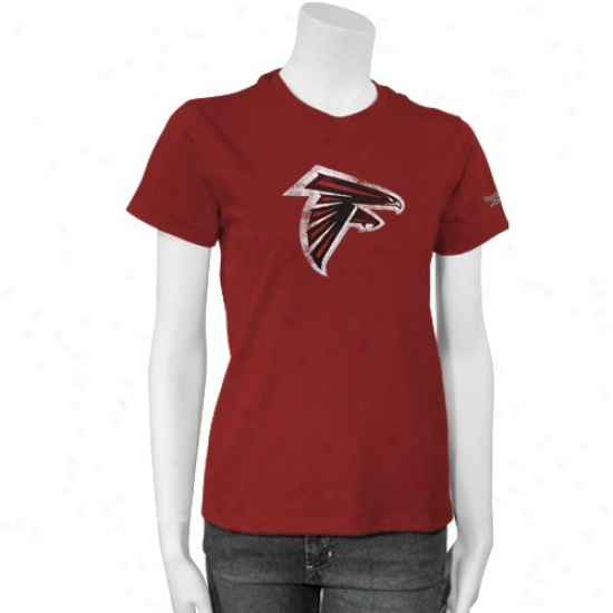 Atlanta Falcon T-shirt : Reebok Atlanta Falcon Ladies Red Better Logo T-shirt
