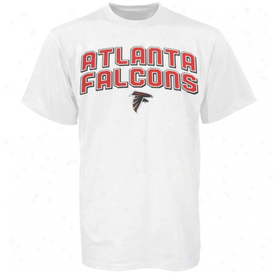 Atlanta Falcon Tees : Reebok Atlanta Falcon White Double Arch Team Logo Tees