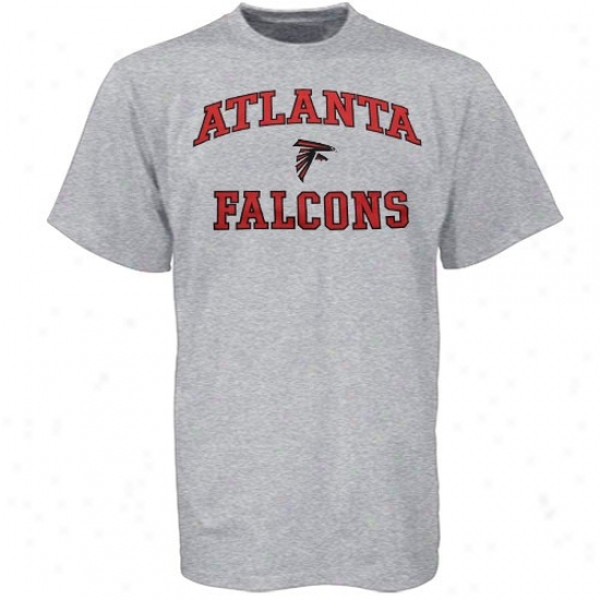 Atlanta Falcon Tshirts : Atlanta Falcon Ash Heart And Soul Tshirts