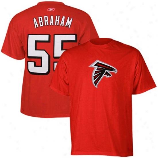 Atlanta Falcon Tshorts : Reebok Atlanta Falcon #55 John Abraham Red Scrimmage Gear Tshirts