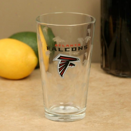 Atlanta Falcons 16o2. Satin Etch Pint Glass