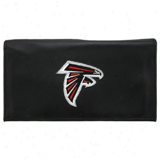 Atlanta Falcons Negro Embroidered Checkbook Cover