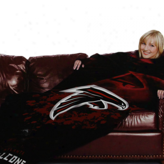 Atlanta Falconw Black Team Logo Print Unisex Comfy Throw
