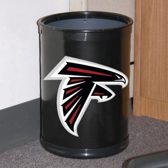 Atlanta Falcons Black Team Wastebasket