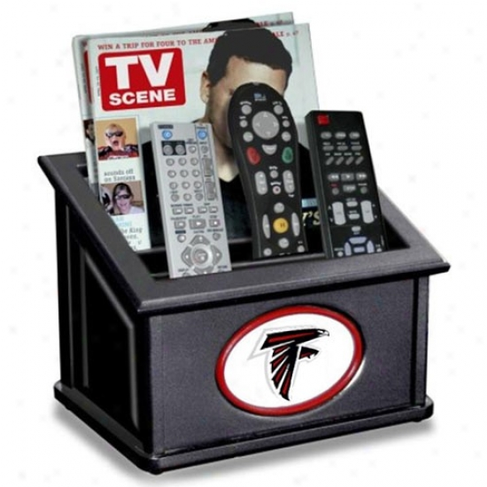 Atlanta Falcons Black Wooden Team Logo Media Organizer