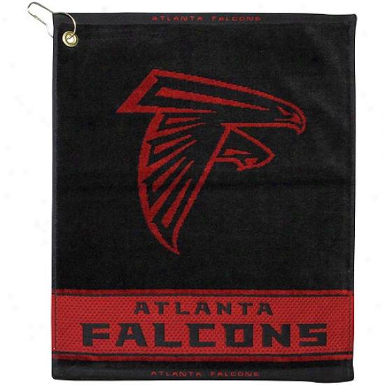 Atlanta Falckns Black Woven Jacquard Golf Towel