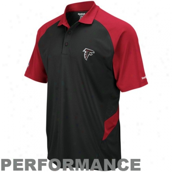 Atlanta Falcons Clothes: Reebok Atlanta Falcons Red-black Sidelline Statement Performance Polo