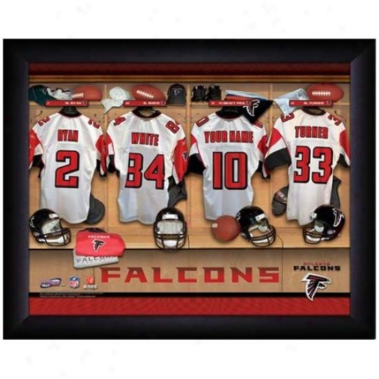 Atlanta Falcons Customized Locker Room Black Framed Photo