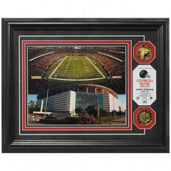 Atlanta Falcons Georgia Dome 24kt Gold Photomint
