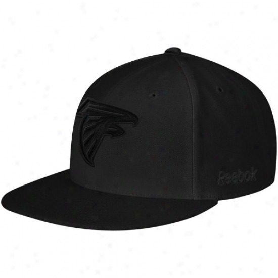 Atlanta Fakcons Hat : Reebok Atlanta Falcons Black Fashion Fitted Hat