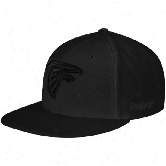 Atlanta Fakcons Hat : Reebok Atlanta Falcons Black Fashion Fitted Hat
