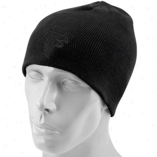 Atlanta Falcons Hats : Reebok Atlanta Falcons Black Tonal Knit Beanie