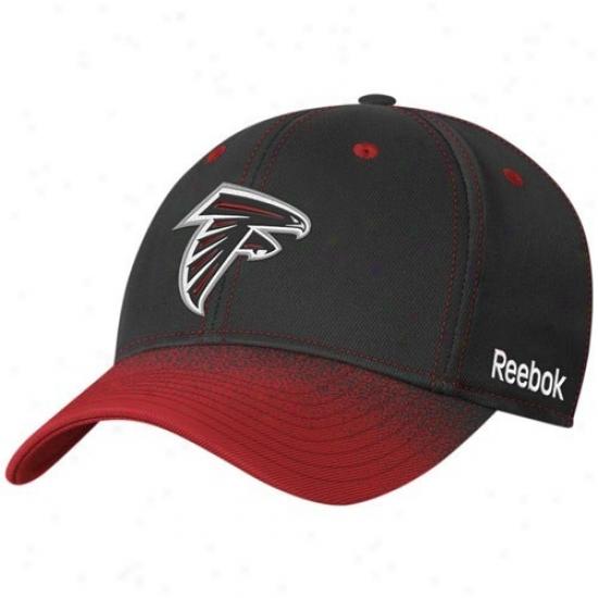 Atlanta Falcons Hats : Reebok Atlanta Falcons Youth Black Fadeout Sideline 2nd Season Flex Fit Hats