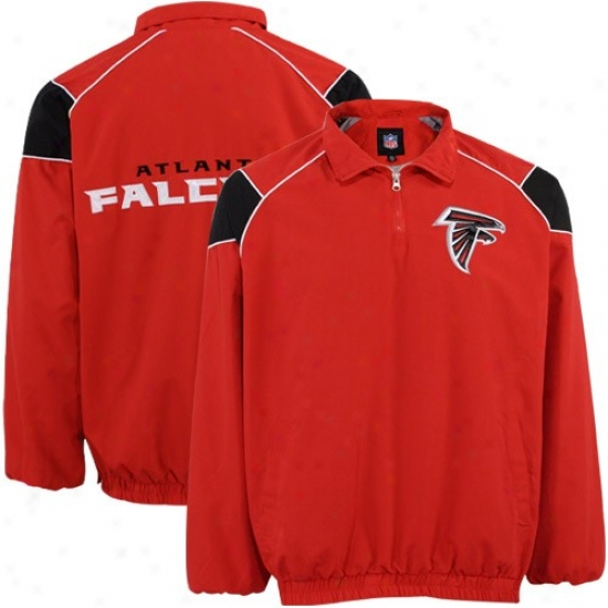 Atlanta Falcons Jacket : Atlanta Falcons Red Team Pullover Jerkin