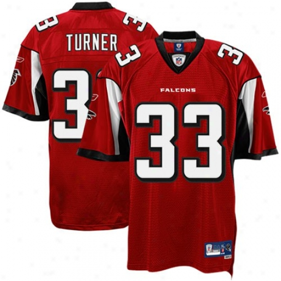 Atlanta Falcons Jersey : Reebok Nfl Equipmebtt Atlanta Falcons #33 Michael Turner Red Premier Tackle Twill Jersey