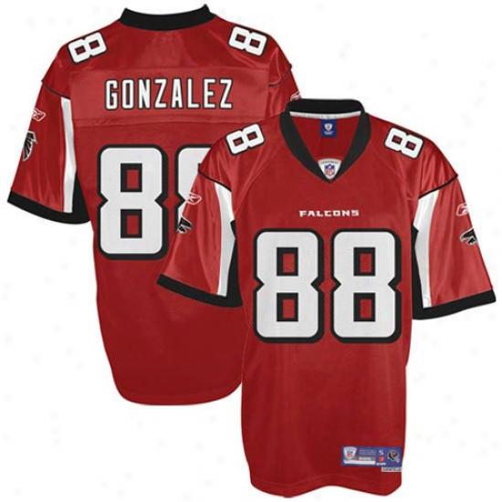 Atlanta Falcons Jerseys : Reebok Tony Gonzalez Atlanta Falcons Youth Premier Tackle Twill Jerseys - Red