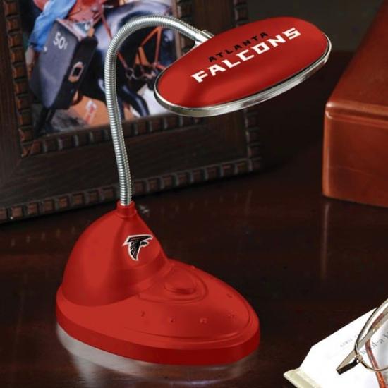 Atlanta Falcos Red Led Desk Lamp
