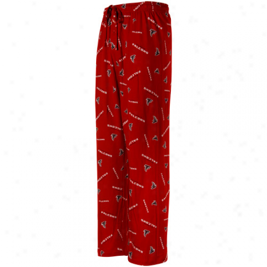 Atlanta Falcons Red Team Faithful Ii Pajama Pants