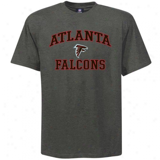 Atlanta Falcons Shirts:  Atlanta Falcons Charcoal Heart And Soul Shirts