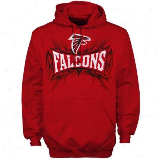Atlanta Falcons Stuff: Reebok Atlanta Falcons Red Outlast Brand Hoody Sweatshirt