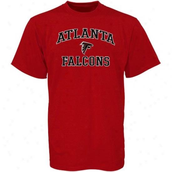 Atlanta Falcons T Shirt : Atlanta Falcons Red Heart And Soul T Shirt