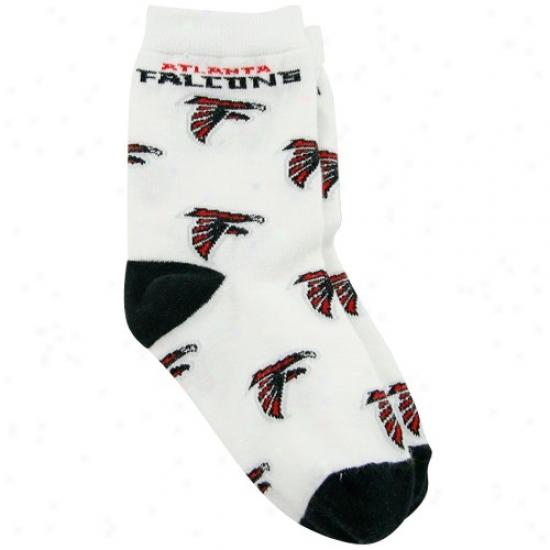 Atlanta Falcons Toddler White All Over Team Logo Bootie Socks