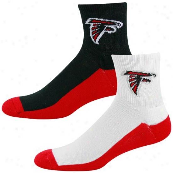 Atlanta Falcons Tri-color Two-pack Quarter Socks