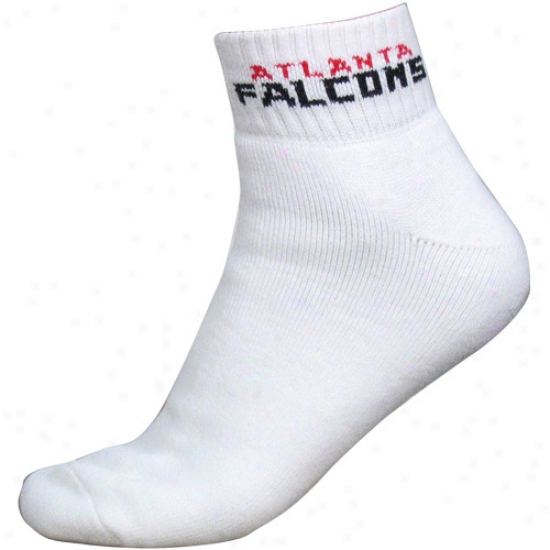 Atlanta Falcons White (517) 10-13 Ankle Socks