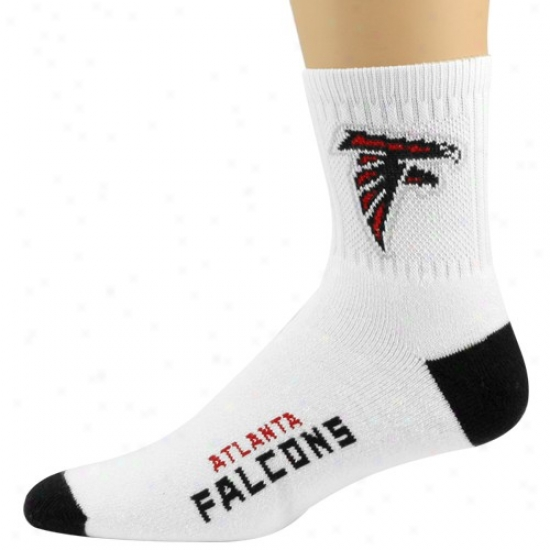 Atlanta Falcons White-black Quarter Length Socks