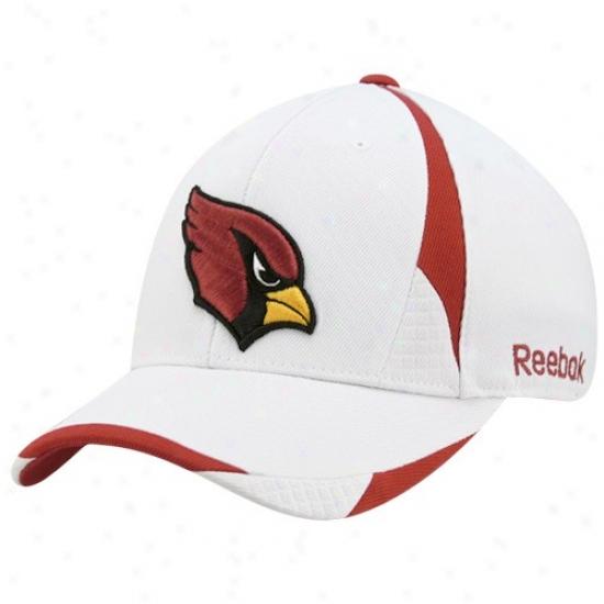 Az Cardinal Gear: Reebok Az Cardinal Whiye Pro Shape Structured Flex Fit Hat