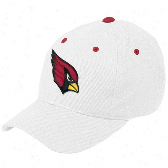 Az Cardinal Hat : Reebok Az Cardinal White Basic Logo Adjustable Hat