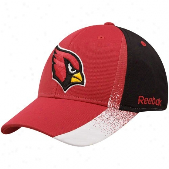 Az Cardinal Hats : Reebok Az Principal Cardinal-black Sprag Pigment Structured Flex Fit Hats