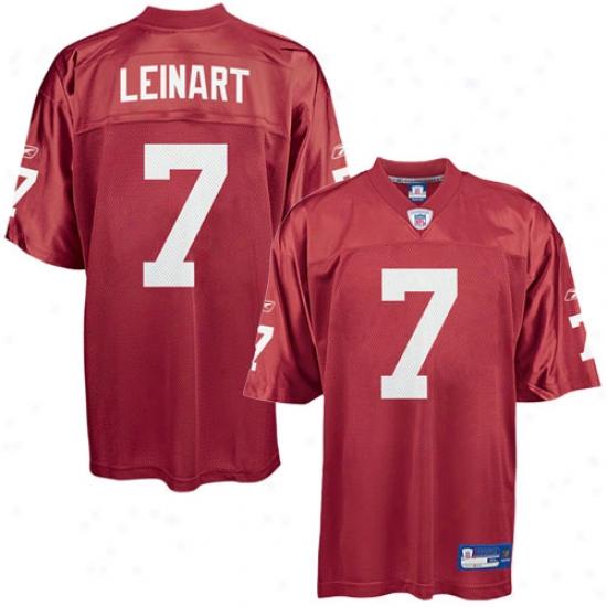 Az Cardinal Jerseys : Reebok Nfl Equipment Az Cardinal #7 Matt Leinart Red Alternate Replica Jerseys