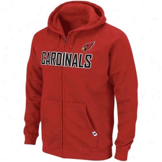 Az Cardinal Sweat Shirts : Az Cardinal Principal Red Classic Heavyweight Saturated Zip Sweat Shirts