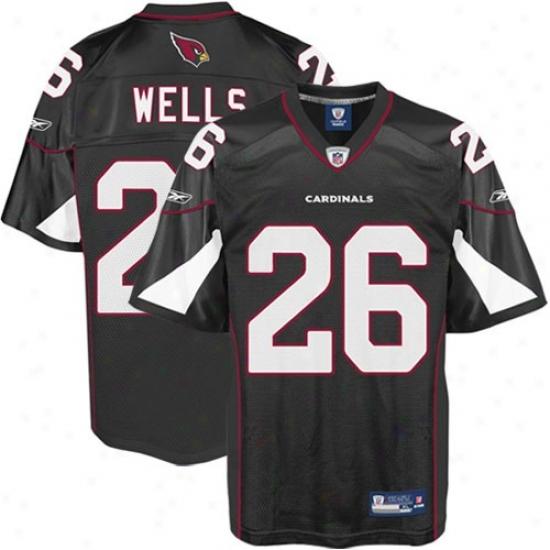 Az Cardinals Jerseys : Reebok Beanie Wells Az Cardinals Alternate Replica Jerseys - Black