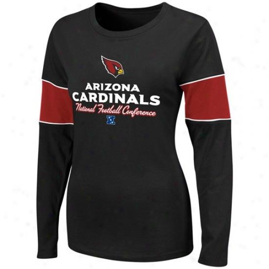 Az Cardinals T-shirt : Az Cardinals Ladies Black Prized Possession Ii Long Sleeve T-shirt
