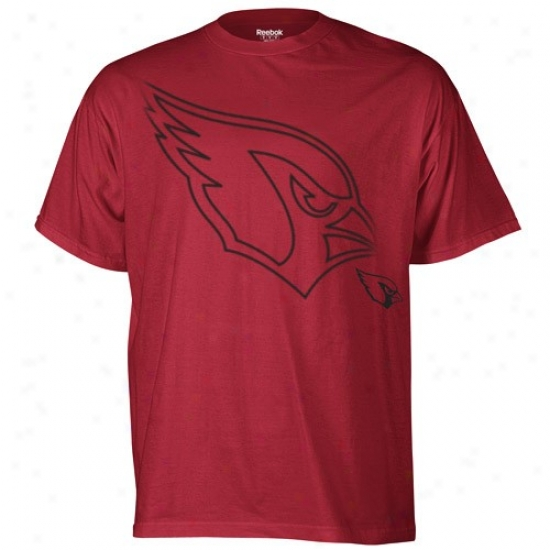 Az Cardinals T Shirt : Reebok Az Cardinals Cardinal Red Huge Logo T Shirt