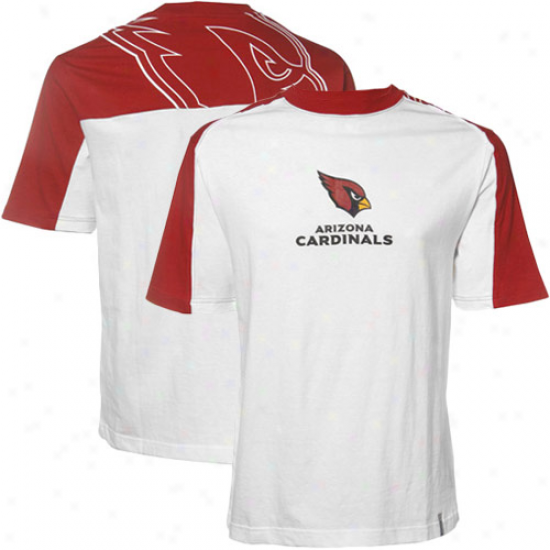 Az Cardinals Tees : Reebok Az Cardinals White-cardinal Red Draft Picm Tees