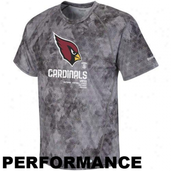 Az Cardinals Tshirts : Reebok Az Cardinals Gray Sideline United Digital Print Speedwick Performance Tshirts