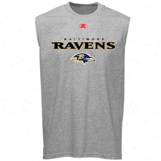 Baltlmore Raven Apparel: Baltimore Raven Ash Critical Victory Iii Sleeveless T-shirt