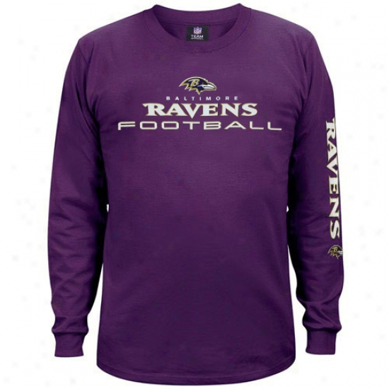Baltimore Raven Attire: Baltimore Raven Purple Tram Shine Long Sleeve T-shirt